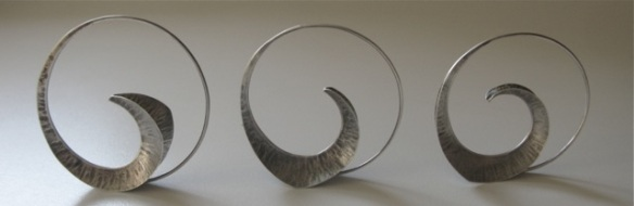 """Variations on a theme.  3 Versions of the new earring design """"Ariadne"""""""